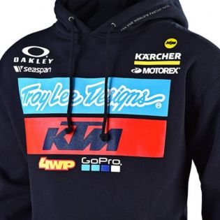 Troy Lee Designs Kids Team KTM Navy Pull Over Hoodie Image 2
