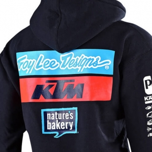 Troy Lee Designs Kids Team KTM Navy Pull Over Hoodie Image 4