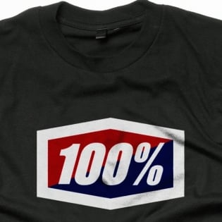 100% Official Black T Shirt Image 2