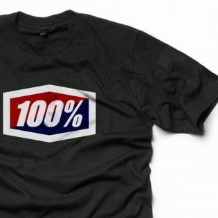 100% Official Black T Shirt Image 4