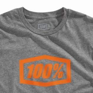 100% Essential Tech Gunmetal Heather T Shirt Image 2
