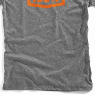 100% Essential Tech Gunmetal Heather T Shirt Image 3