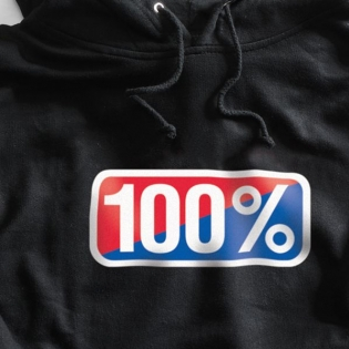 100% Classic Black Pullover Hoodie Image 2