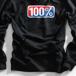 100% Classic Black Pullover Hoodie Image 3