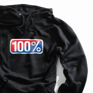 100% Classic Black Pullover Hoodie Image 4