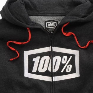 100% Syndicate Black Heather White Hoodie Image 2