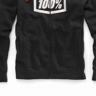 100% Syndicate Black Heather White Hoodie Image 3