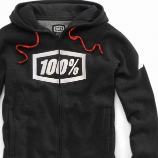100% Syndicate Black Heather White Hoodie Image 4