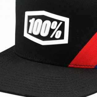 100% Cornerstone Trucker Black White Hat Image 2