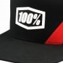 100% Cornerstone Trucker Black White Hat