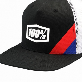 100% Cornerstone Trucker Black White Hat Image 3