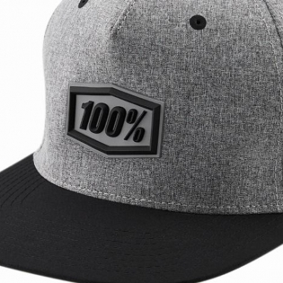 100% Enterprise Snapback Gunmetal Heather Hat Image 2