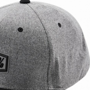100% Enterprise Snapback Gunmetal Heather Hat Image 3