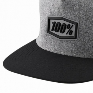 100% Enterprise Snapback Gunmetal Heather Hat Image 4