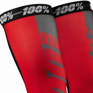 100% Rev Knee Brace Performance Moto Red Socks Image 2