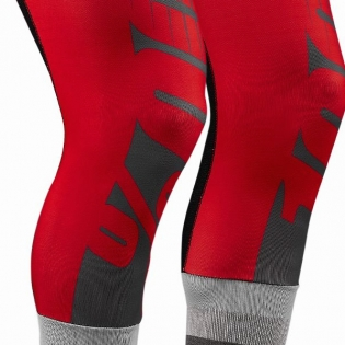 100% Rev Knee Brace Performance Moto Red Socks Image 3