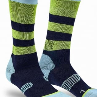 100% Rev Knee Brace Performance Moto Navy Socks Image 4
