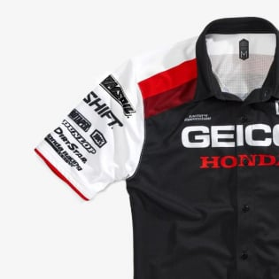 100% Approach Honda Geico Black T Shirt Image 2