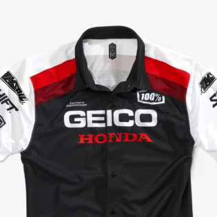 100% Approach Honda Geico Black T Shirt Image 3
