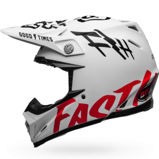 Bell Moto 9 Carbon Flex Fasthouse WRWF White Black Red Helmet  Image 3
