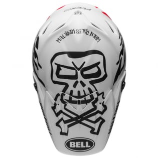 Bell Moto 9 Carbon Flex Fasthouse WRWF White Black Red Helmet  Image 4
