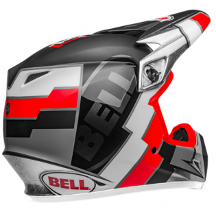 Bell MX9 MIPS Twitch Replica Matte Black Red White Helmet Image 2