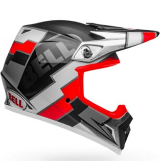Bell MX9 MIPS Twitch Replica Matte Black Red White Helmet Image 3