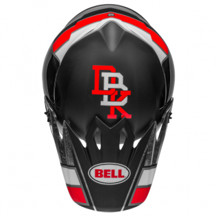 Bell MX9 MIPS Twitch Replica Matte Black Red White Helmet Image 4