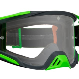 Spy MX Foundation Maze Green HD Clear Lens Goggles Image 3