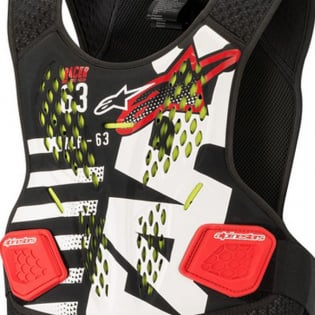 Alpinestars Sequence Black White Red Chest Protector Image 2