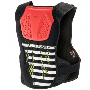 Alpinestars Sequence Black White Red Chest Protector Image 3