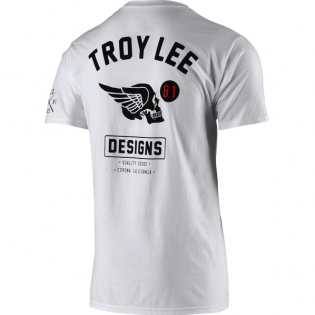 Troy Lee Designs T Shirt Agent Skully White Image 3