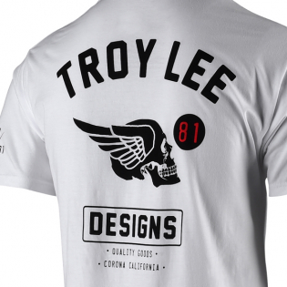Troy Lee Designs T Shirt Agent Skully White Image 4