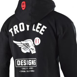 Troy Lee Designs Zip Up Hoodie Skully Black Image 2