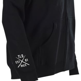 Troy Lee Designs Zip Up Hoodie Skully Black Image 4