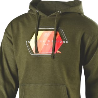 Troy Lee Designs Hoodie Technical Fade Army Green Image 2