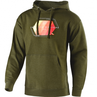 Troy Lee Designs Hoodie Technical Fade Army Green Image 3