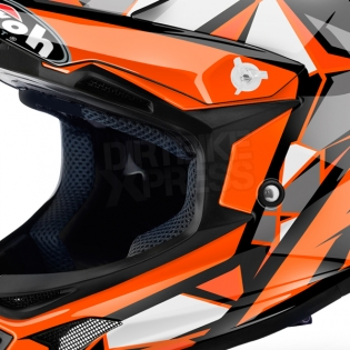 Airoh Archer Junior Kids Chief Orange Gloss Helmet Image 2