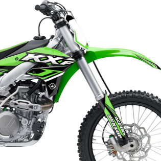 FLU Designs PTS 4 Kawasaki KX Graphics Kit Image 4