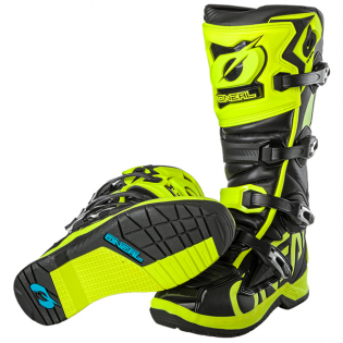 ONeal RMX Neon Yellow Motocross Boots Image 4