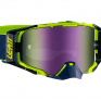 Leatt 6.5 Velocity Ink Lime Purple Iriz Lens Goggles