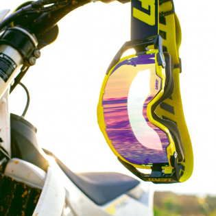 Leatt 6.5 Velocity Ink Lime Purple Iriz Lens Goggles Image 3