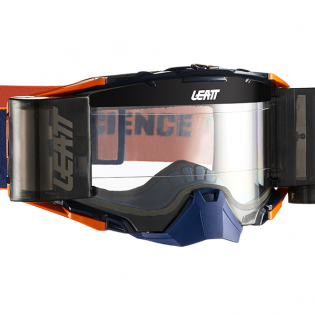 Leatt 6.5 Velocity Ink Orange Clear Lens Roll Off Goggles Image 2