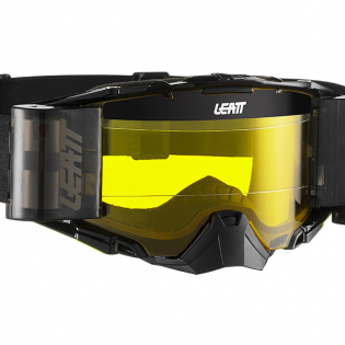 Leatt 6.5 Velocity Black Grey Yellow Lens Roll Off Goggles Image 2