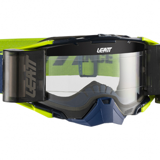 Leatt 6.5 Velocity Ink White Yellow Clear Lens Roll Off Goggles Image 2