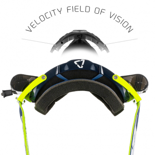 Leatt 6.5 Velocity Ink White Yellow Clear Lens Roll Off Goggles Image 4