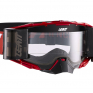 Leatt 6.5 Velocity Ink Red White Clear Lens Roll Off Goggles