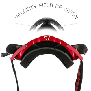 Leatt 6.5 Velocity Ink Red White Clear Lens Roll Off Goggles Image 4