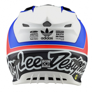 Troy Lee Designs SE4 Unite White Navy Composite Helmet Image 2