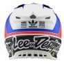 Troy Lee Designs SE4 Unite White Navy Composite Helmet